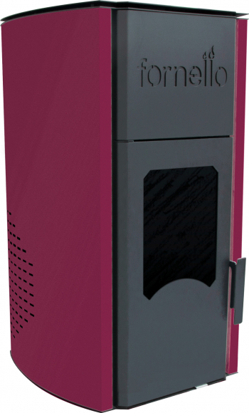 Termosemineu pe peleti Fornello Royal 18 KW aprindere automata telecomanda buncar tiraj fortat pompa circulatie vas expansiune Culoare Termoseminee