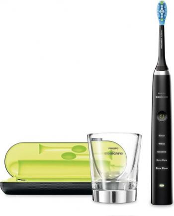 Periuta electrica Philips Sonicare DiamondClean 5 programe de curatare timer carcasa USB pahar incarcare negru