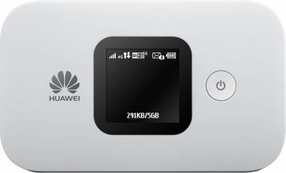 Router wireless portabil Huawei E5577 4G LTE CAT4 Hotspot Dual band cu slot MicroSIM unlocked alb