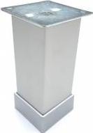 Picior metalic pentru mobilier H 100 mm finisaj aluminiu profil patrat 40x40 mm cu masca Accesorii mobilier
