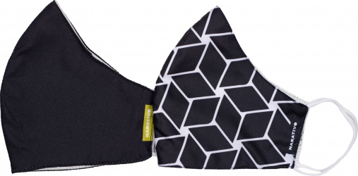 Set 2 masti de protectie fashion reutilizabile pentru barbati Narativo L1 Masti chirurgicale si reutilizabile
