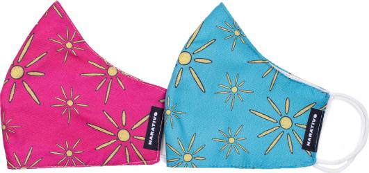 Set 2 masti fashion de protectie reutilizabile pentru copii Narativo S1 Masti chirurgicale si reutilizabile