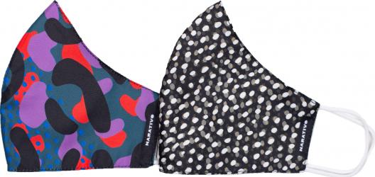 Set 2 masti fashion de protectie reutilizabile pentru femei Narativo M3 Masti chirurgicale si reutilizabile