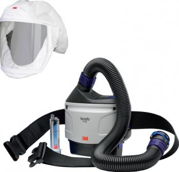 Sistem complet de respiratie si protectie Cagula 3M S133 + KIT sistem de presiune pozitiva 3M and trade Versaflo and trade TR-315E Articole protectia muncii