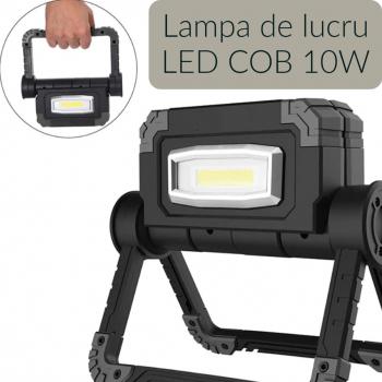 Lampa de lucru LED rotativa pliabila cu acumulatori Corpuri de iluminat