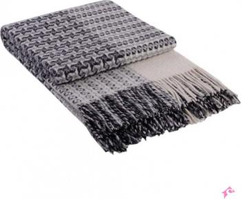 Patura Cappucino lana Merinos 200x220 cm Cuverturi & Paturi