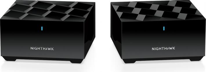 Router Wi-Fi Netgear Nighthawk MK62 sistem mesh router si satelit 4K UHD dual-band tehnologie Wi-Fi 6 negru