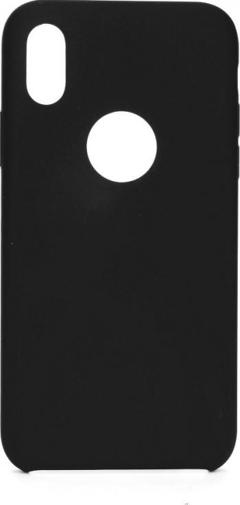 Husa Forcell Silicon Pentru iPhone 11 Pro 2018 Interior Alcantara Cu Decupaj Logo - Negru Huse Telefoane