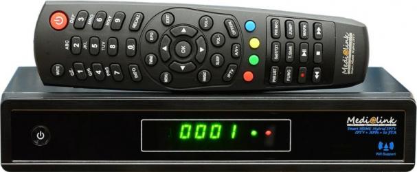 Receptor IPTV + satelit HD Medialink ML-1100S HD PVR + IPTV STALKER Aplicatii multimedia - optional