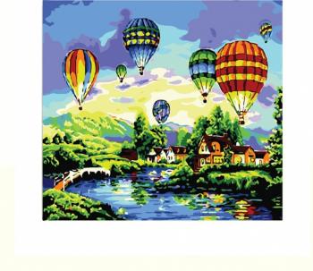 Set pictura pe numere Tablou baloane in aer Tablouri