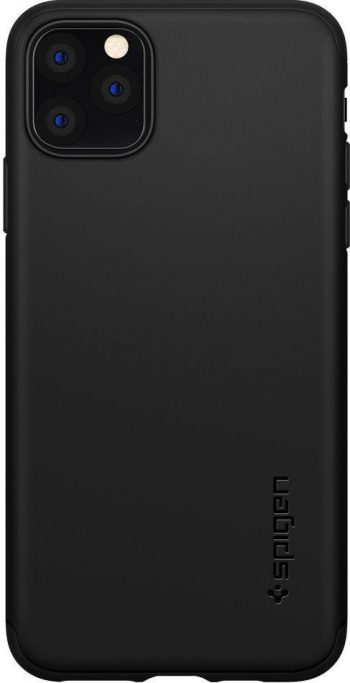 Husa Premium Originala Spigen Thin Fit Classic iPhone 11 Pro Max Negru Huse Telefoane