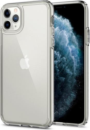 Husa Premium Spigen Crystal Hybrid iPhone 11 Pro Anti-shock transparenta Huse Telefoane