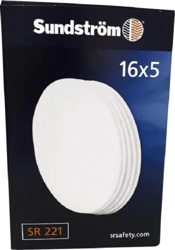 Cutie 16x5 bucati Pre-Filtru Sundstrom SR 221 P2 R pentru masca de protectie respiratorie reutilizabila SR 100 Masti chirurgicale si reutilizabile