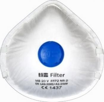 Semi-masca de protectie tip cupa cu supapa MB 20 V FFP2 NR D Articole protectia muncii