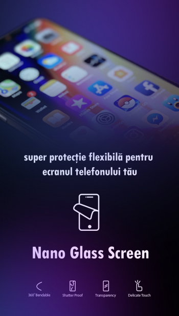 Folie protectie Nano-Glass pentru Samsung Galaxy A52 Folii Protectie