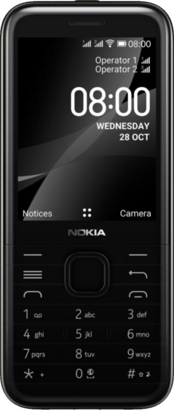 Telefon mobil Nokia 8000 Dual SIM 4GB 4G Black Telefoane Mobile