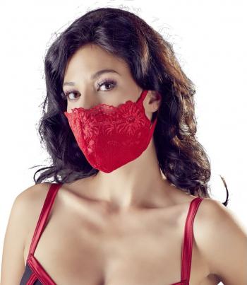 Masca Mask with Lace Rosu Accesorii Dama