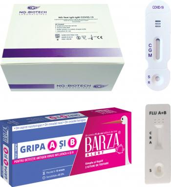 Test rapid Covid-19 kit 20 teste IgM-IgG si Test rapid Gripa A si B kit 2 teste Teste rapide covid anticorpi antigen