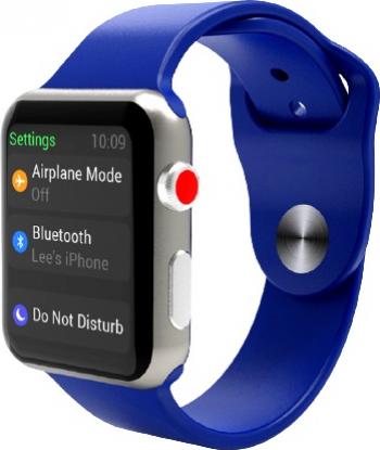 Curea Smart Watch Compatibila cu Apple Watch 1/2/3/4/5 Nike+ Bratara din Silicon Lata 42/44mm Albastra
