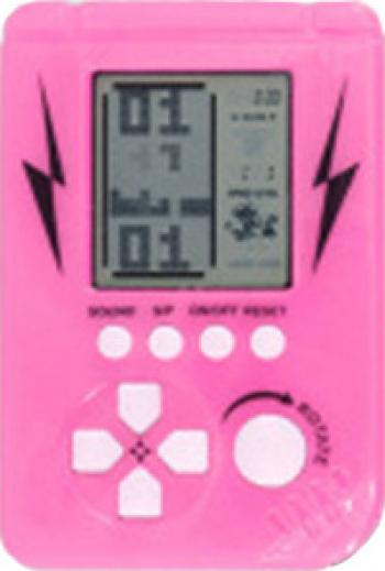Mini Joc Tetris Clasic cu Diferite Jocuri Retro Alimentare pe Baterii culoare Roz