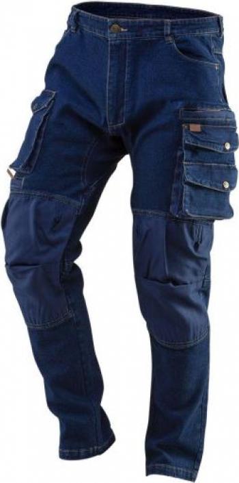 Pantaloni de lucru tip blugi cu intariri pentru genunchi model Denim marimea L/52 NEO