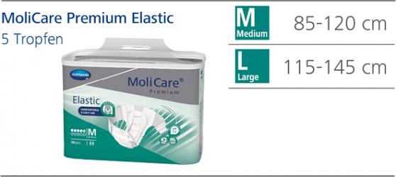 Scutece Molicare Premium Elastic 5 picaturi - MoliCare Premium Elastic 5 pic. M Dispozitive monitorizare medicala