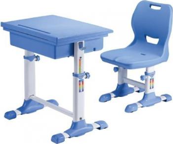 Set birou si scaun copii SingBee Student Desk ST-A-BL reglabil in inaltime