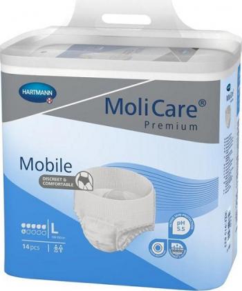 Slip incontinenta MoliCare Mobile - Hartmann - L 14 bucati 100-150 cm Dispozitive monitorizare medicala