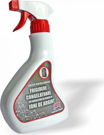 Solutie Clear Vision pentru curatat frigidere si congelatoare cu ioni de Argint si inhibitori de miros gama SANO 500 ml Curatare Casa si Exterior