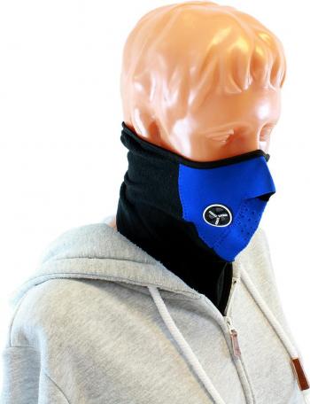 Cagula Masca de protectie din neopren pentru gat si fata marime universala negrualbastru Echipamente sportive si seturi