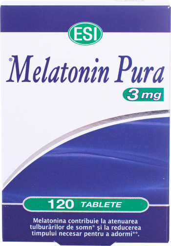 ESI Melatonin Pura 3mg 120 tbl Vitamine si Suplimente nutritive