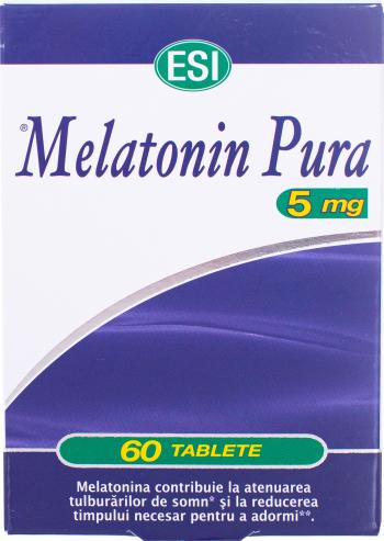ESI Melatonina pura 5mg 60tbl Vitamine si Suplimente nutritive