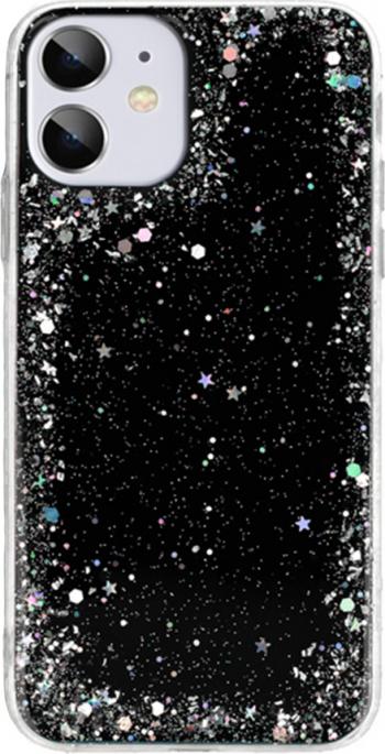 Husa G-Tech Brilliant pentru iPhone 11 Pro Sclipici in forma de stelute Star Glitter Shining 3 straturi protective Negru Huse Telefoane