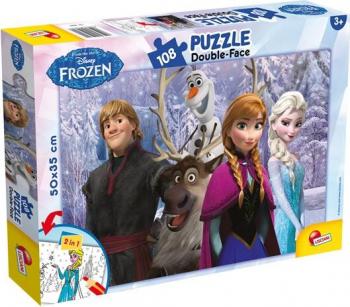Puzzle de colorat - Frozen si prietenii 108 piese Puzzle