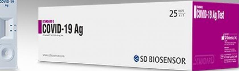Test Covid Rapid Antigen 25 Bucati Cutie SD Biosensor Corea