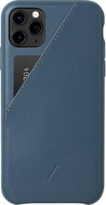 Carcasa din piele naturala Native Union Clic Card iPhone 11 Pro Max Indigo Huse Telefoane