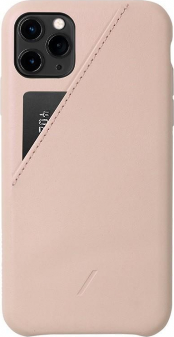 Carcasa din piele naturala Native Union Clic Card iPhone 11 Pro Max Nude Huse Telefoane