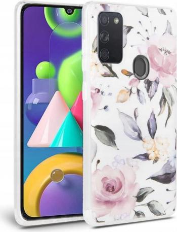 Carcasa Tech-Protect Floral Samsung Galaxy A21s White Huse Telefoane