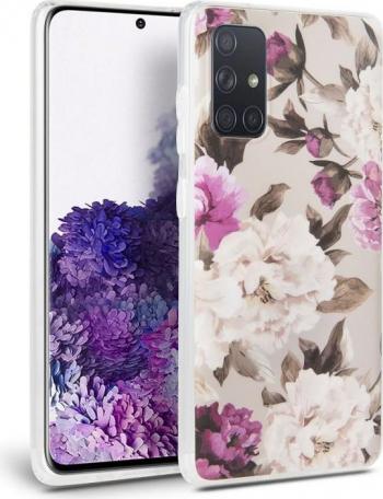 Carcasa Tech-Protect Floral Samsung Galaxy A41 Beige