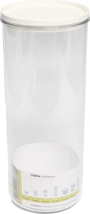 Cutie transparenta cilindrica pentru depozitare cereale