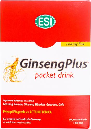 ESI Ginseng Plus pocket drink 16 buc 10ml Vitamine si Suplimente nutritive