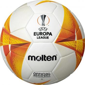 Minge fotbal Molten UEFA EUROPA LEAGUE OFFICIAL MATCH BALL 20 / 21 aprobata FIBA marime 5 + pompa Molten DHP