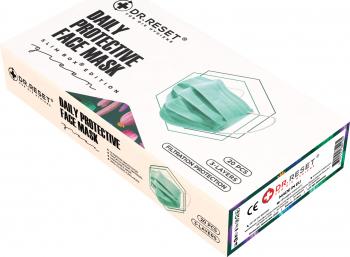 Set 20 bucati Masti faciale protectie DR.Rest de unica folosinta nesterile Verde Slimbox Edition Masti chirurgicale si reutilizabile