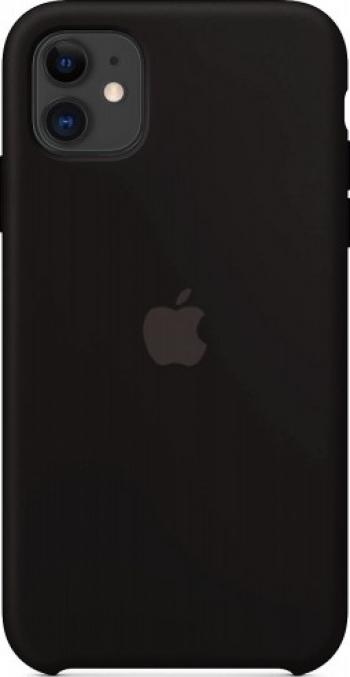 Husa Compatibila Apple iPhone 11 Pro Silicon Microfibra Black Huse Telefoane