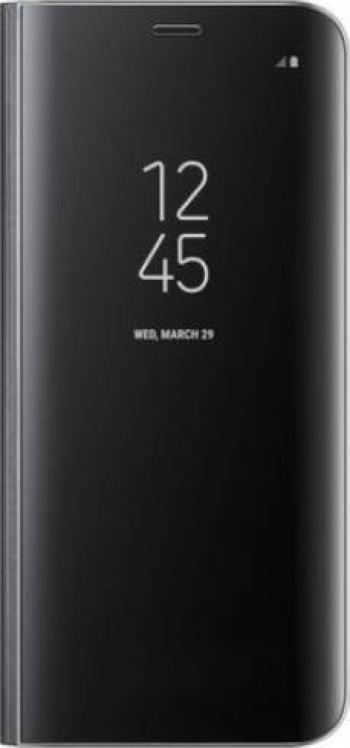 Husa Flip Stand Clear View Samsung A21S Black Huse Telefoane