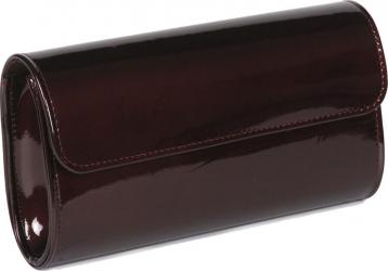 Plic visiniu inchis din piele lacuita model 07 MAGAZINUL DE GENTI