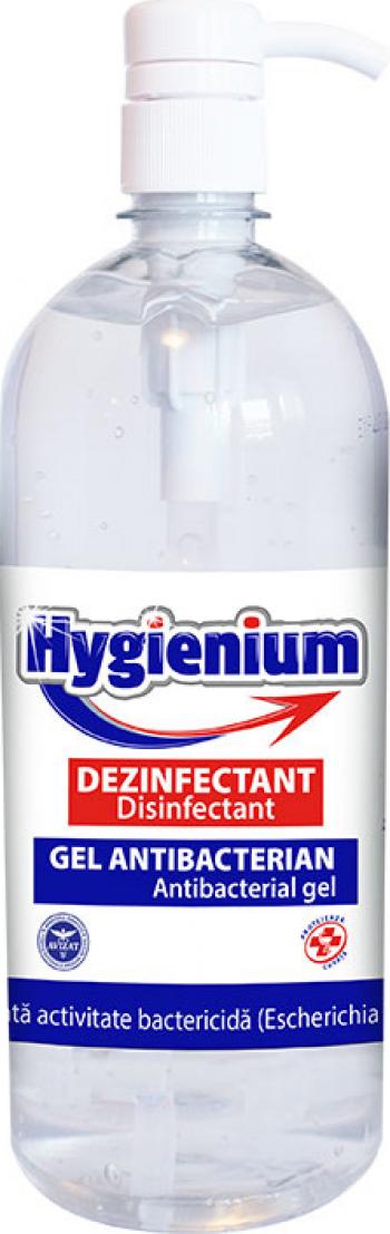 Gel dezinfectant pentru maini Hygienium cu 70 alcool efect antibacterian 1000 ml Gel antibacterian