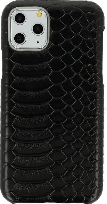 Husa G-Tech Wild iPhone 11 Pro Piele ecologica Model imitatie de piele de sarpe Negru Huse Telefoane