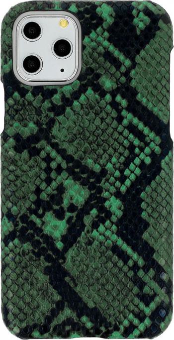 Husa G-Tech Wild iPhone 11 Pro Piele ecologica Model imitatie de piele de sarpe Verde-Negru Huse Telefoane