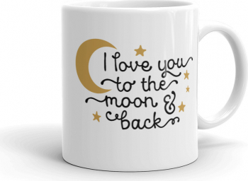Cana personalizata Love you to the moon and back Cadouri